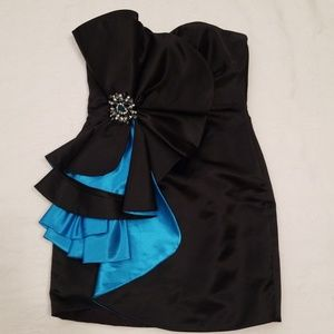 Vintage 80's Trerani 8 black formal dress
